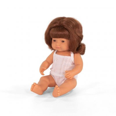 MINILAND Dojenček igrača - Rdečelasa deklica (38 cm)