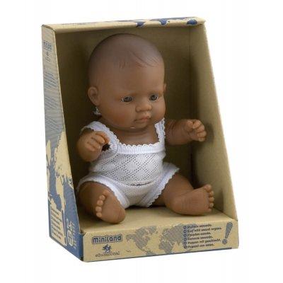 MINILAND Dojenček igrača - Latino deklica (21 cm)