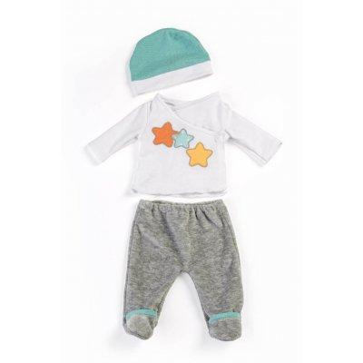 MINILAND Pižama siva za dojenček igrača (38-40 cm)