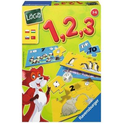 RAVENSBURGER Miselne igre za otroke Logo 1, 2, 3