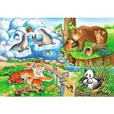 RAVENSBURGER Puzzle Divje živali 2x12d