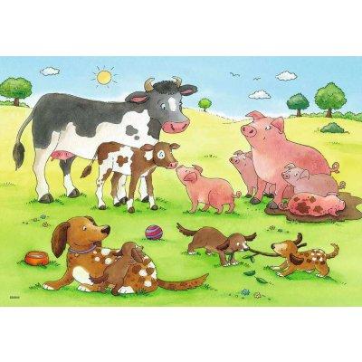 RAVENSBURGER Puzzle Domače živali 2x12d