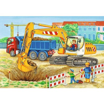 RAVENSBURGER Puzzle Traktor 2x12d