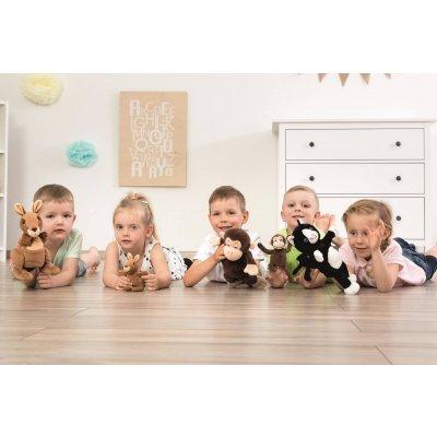 BELEDUC Ročne in naprstna lutka Opica mama & baby