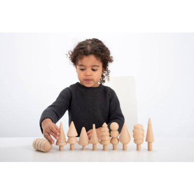 TICKIT Montessori materiali - Lesene figurice Drevesa