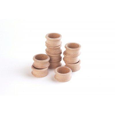 TICKIT Montessori materiali - Leseni obroči za prtičke